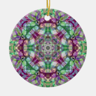 """緑、あずき色、および紫色の""""薄紫によっては""""曼荼羅が夢を見ます セラミックオーナメント"""