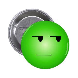 緑|ええ|権利|スマイリー ピンバッジ