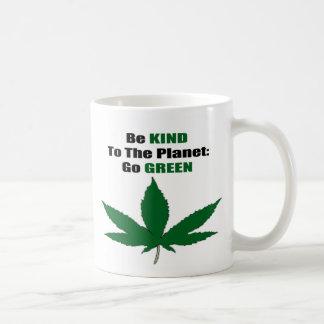 緑 コーヒーマグカップ