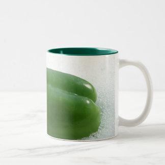 緑 ツートーンマグカップ