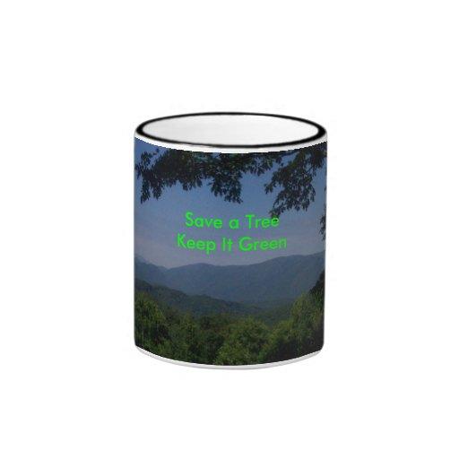 緑|メッセージ コーヒーマグカップ