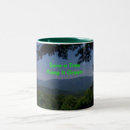 緑|メッセージ コーヒーマグ