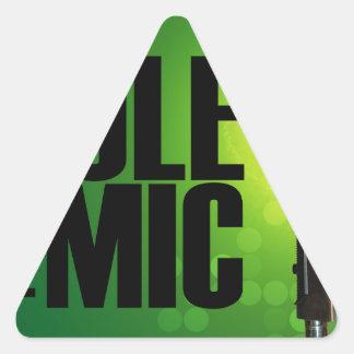 緑 三角形シール