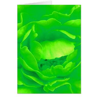 緑 上がりました グリーティングカード