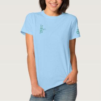 緑 刺繍入りTシャツ