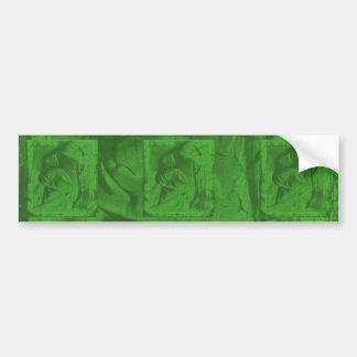 緑 反射 バンパー ステッカー バンパーステッカー