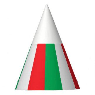 緑、白いおよび赤イタリアンな旗 パーティーハット