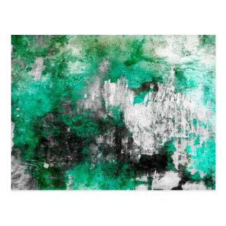 緑、白く及び黒い抽象美術 ポストカード