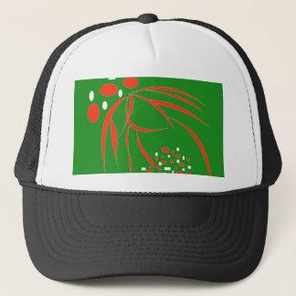 緑、赤く及び白い形 キャップ