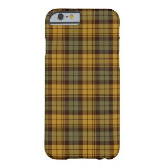 緑、金ゴールドおよびブラウンの素朴な格子縞 BARELY THERE iPhone 6 ケース