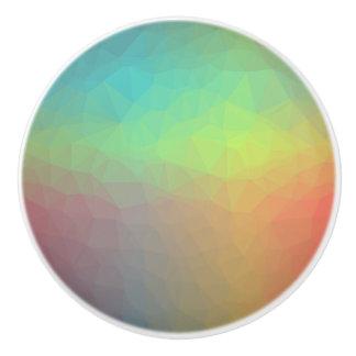 、緑、青い赤い、黄色の抽象的なノブ セラミックノブ