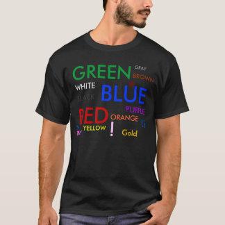 、緑、青い、赤い、灰色、白い、黒い紫色、P… Tシャツ
