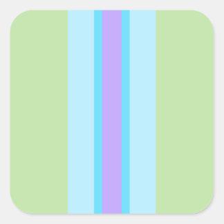 緑、青、紫色のストライプの スクエアシール