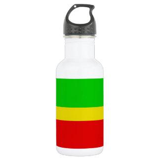 緑、黄色、および赤 ウォーターボトル