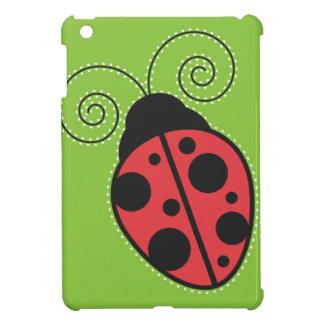 緑、黒くおよび赤いてんとう虫のiPad Miniケース iPad Miniカバー