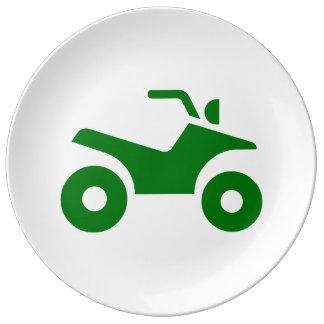 緑ATVの印 磁器プレート