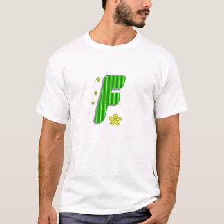 緑fのモノグラム tシャツ