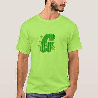 緑gのモノグラム tシャツ