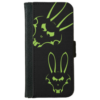 緑J.Rabbitのロゴの電話箱 iPhone 6/6s ウォレットケース