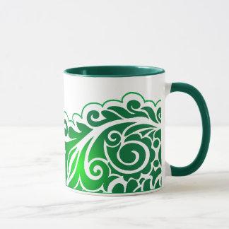 緑lace_4 マグカップ