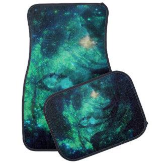 緑Nの水のリボンの星雲のカーマット カーマット