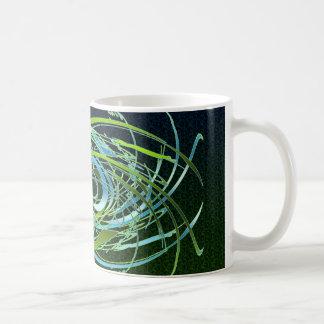 緑nの青の渦巻 コーヒーマグカップ
