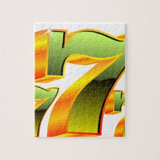 緑sevens.のカジノの絵 ジグソーパズル