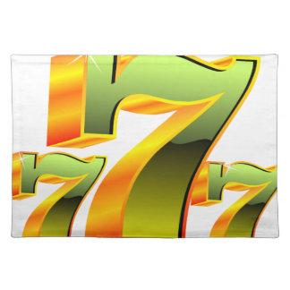 緑sevens.のカジノの絵 ランチョンマット