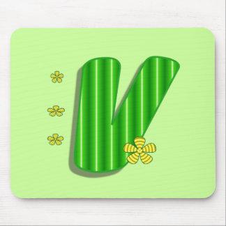 緑Vのモノグラム マウスパッド