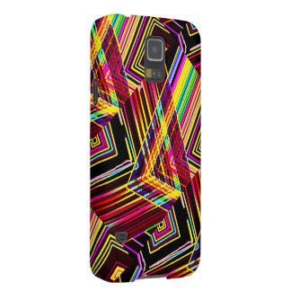 線形デザインのSamsungの銀河系の箱 Galaxy S5 ケース