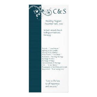 線条細工海軍か白い結婚式プログラム ラックカード
