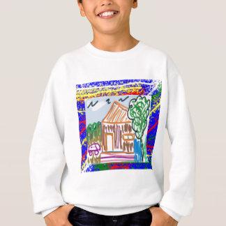 線画のグラフィックが付いているティーのエレガントなスタイル スウェットシャツ