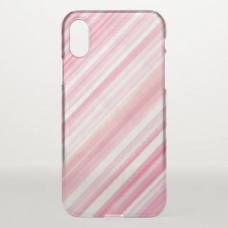 線画のピンクの水彩画 iPhone X ケース