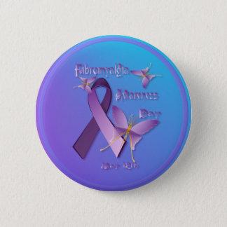 線維筋痛の認識度日ボタン 5.7CM 丸型バッジ