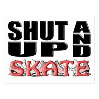 締め、スケートで滑って下さい(姿) ポストカード