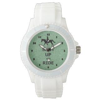 締め、乗って下さい! 乗馬の馬 腕時計
