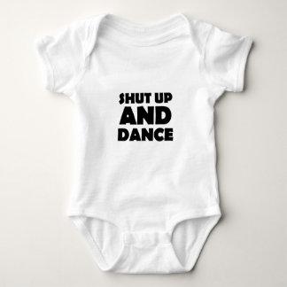 締め、踊って下さい ベビーボディスーツ
