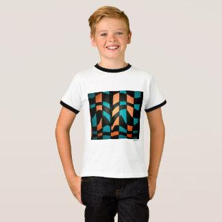 編まれたパターン Tシャツ