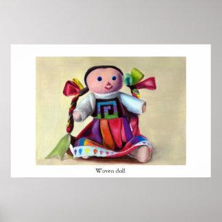 編まれた人形 ポスター