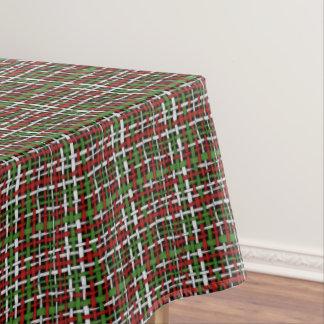 編まれた荒く季節的なバーラップの赤い緑の白 テーブルクロス