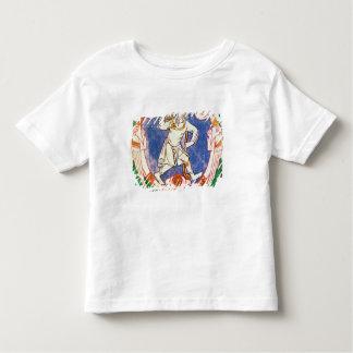 編まれるの2人の飛んだ創造物の型枠 トドラーTシャツ