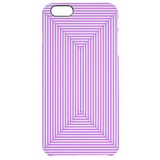 編まれる紫色 クリア iPhone 6 PLUSケース