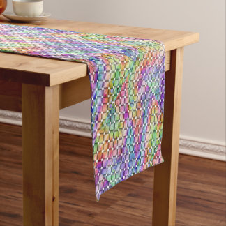 編まれる虹 ショートテーブルランナー