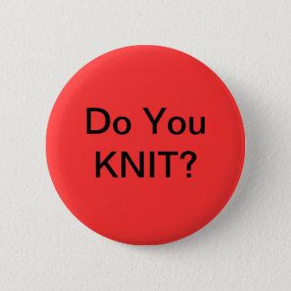 編みますか。 缶バッジ