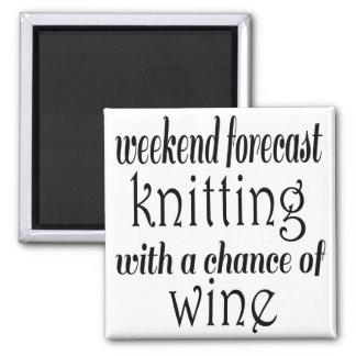 編み物およびワイン マグネット