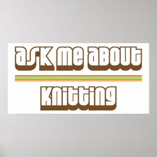 編み物について私に尋ねて下さい ポスター