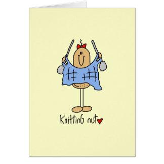 編み物のナットのTシャツおよびギフト カード