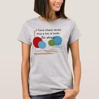編み物のユーモアのTシャツ Tシャツ