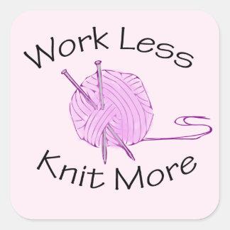 編み物の情熱 スクエアシール