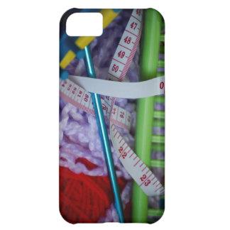 編み物の要素のiPhoneのやっとそこに場合 iPhone5Cケース